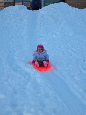 Tasha Sledding