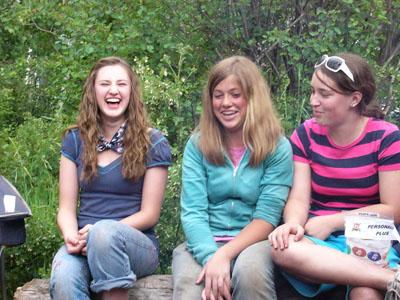 girl having fun girl camp